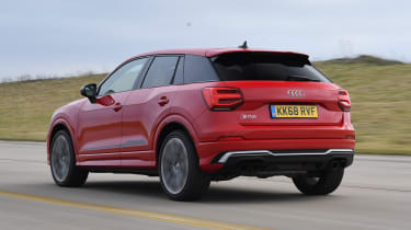 Audi SQ2 SUV rear tracking