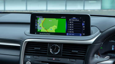 Lexus RX SUV infotainment display
