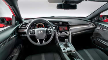 The Honda Civic dashboard is now horizontally arranged and not vertically tiered