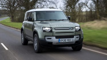 Land Rover Defender 110 - front 3/4 driving
