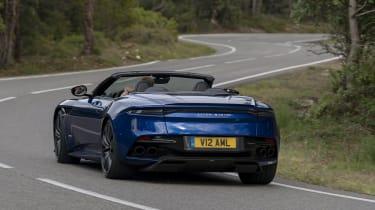 Aston Martin DBS Superleggera Volante tail cornering