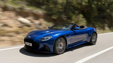Aston Martin DBS Superleggera Volante front 3/4 action