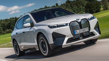 BMW iX SUV front 3/4 dynamic