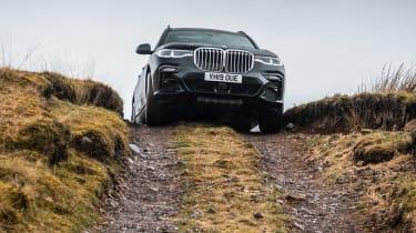 BMW X7 SUV climbing