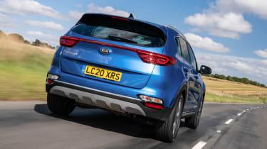 Kia Sportage SUV rear tracking