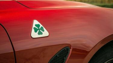 Alfa Romeo Giulia Quadrifoglio Cloverleaf badge
