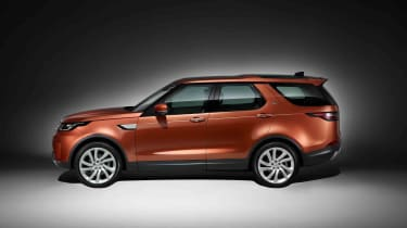 The new Land Rover Discovery does retain the car's famed stepped roof, however