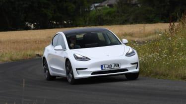 Tesla Model 3 cornering