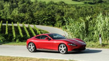 Ferrari Roma coupe side panning
