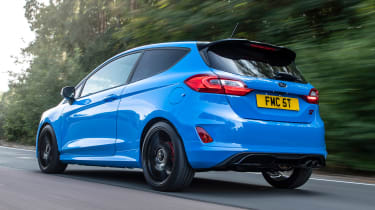 Ford Fiesta ST hatchback rear 3/4 driving