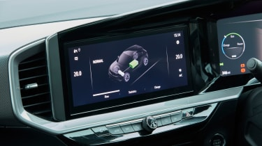 Vauxhall Mokka-e info screen