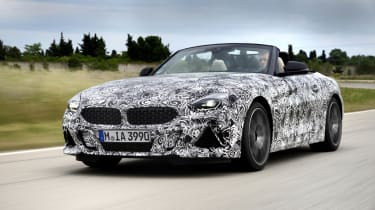 The new BMW Z4 has been put through its paces at a test centre in Miramas, France.
