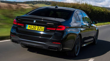 BMW 5 Series saloon rear 3/4 tracking