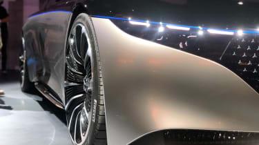 Mercedes EQS electric saloon concept - front light - Frankfurt