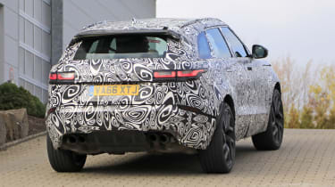 Range Rover Velar SVR rear spy shot