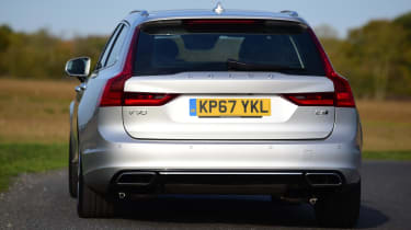 The V90 T8 can travel up to 28 miles on electric power alone