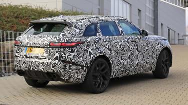 Range Rover Velar SVR rear spy shot