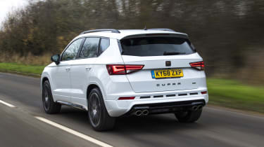Cupra Ateca SUV - rear 3/4 dynamic view