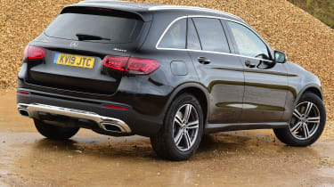 Mercedes GLC SUV rear 3/4 static