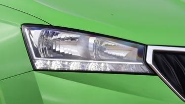 Skoda Fabia hatchback headlights