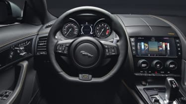 Changes to the Jaguar F-Type interior include new trim materials and an additional leather upholstery option.