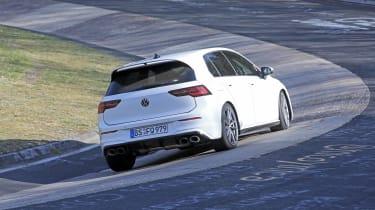 Volkswagen Golf R cornering - rear view