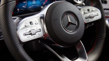 Mercedes CLA saloon steering wheel