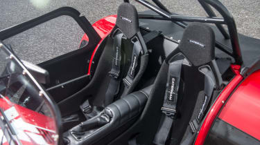 Various roll cage options are available, which provides a clue as to what the Seven's forte really is
