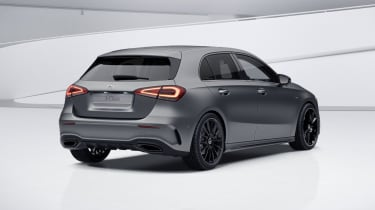 2020 Mercedes A-Class Exclusive Edition and Exclusive Edition Plus - rear 3/4 static