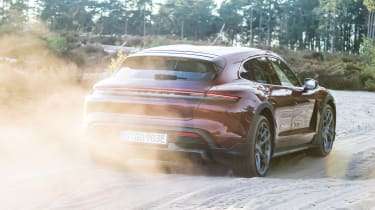 Porsche Taycan Cross Turismo rear off-road