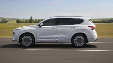 2020 Hyundai Santa Fe driving - side view