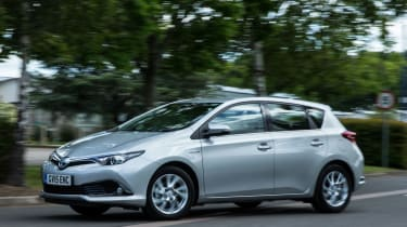 The Auris is available with petrol, diesel and hybrid power