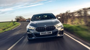 BMW 2 Series Gran Coupe saloon front driving