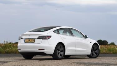 Tesla Model 3 Long Range saloon rear 3/4 static