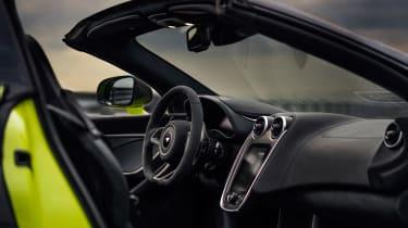 McLaren 600LT Spider convertible interior