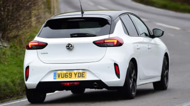 Vauxhall Corsa hatchback rear cornering