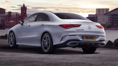 Mercedes CLA saloon rear 3/4 static