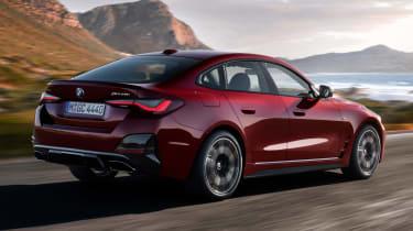 New BMW 4 Series Gran Coupe M440i xDrive - rear 3/4 dynamic