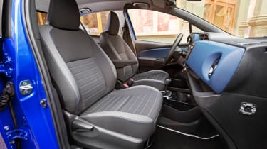 Part-leather and Alcantara seats are fitted in the Excel model