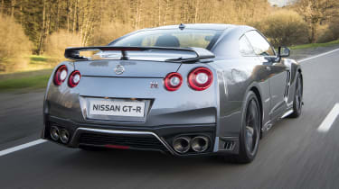 The noise of the GT-R at cruising speed can be intrusive but Nissan has introduced technology to help reduce this.