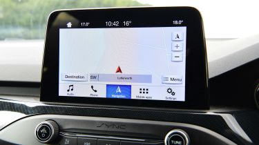 Ford Focus ST Estate infotainment display