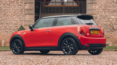MINI Electric hatchback rear 3/4 static