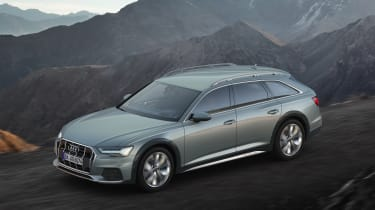 New 2019 Audi A6 Allroad estate - side quarter view driving
