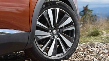 Low-profile tyres hint towards the 3008 being more naturally suited to life on the beaten track than off it