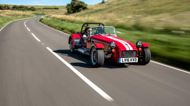 However, the latest Caterham Seven uses up-to-date technology