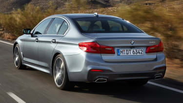 The 5 Series' boot is competitive in its size, but it's not as square a shape as we'd like