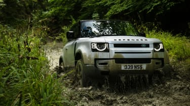 2020 Land Rover Defender 90 - front 3/4 off-roading