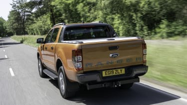 2019 Ford Ranger Wildtrak - rear 3/4 dynamic view