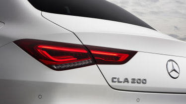 Mercedes CLA saloon rear lights