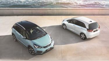2020 Honda Jazz Crosstar & hybrid - front & rear 3/4 view